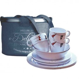 16-delig melamine servies Regata Marine Business (antislip)