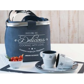 14-delig melamine servies Northwind van Marine Business