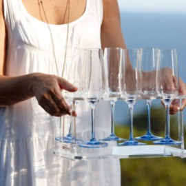 Party - Champagneglas - Clear H22.5cm